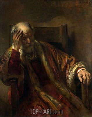 An Old Man in an Armchair, Undated | Rembrandt | Painting Reproduction