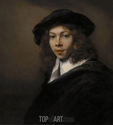 Portrait of a Young Man, 1666 | Rembrandt | Painting Reproduction