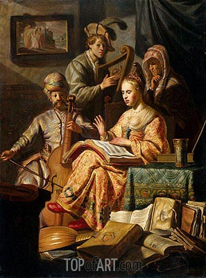 Musical Allegory, 1626 | Rembrandt | Painting Reproduction