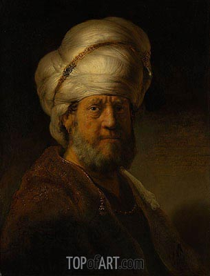 An Oriental, 1635 | Rembrandt | Painting Reproduction