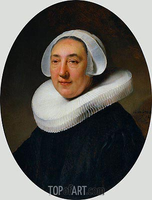 Portrait of Haesje Jacobsdr of Cleyburg, 1634 | Rembrandt | Painting Reproduction