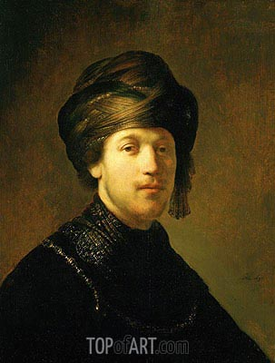 A Young Man Wearing a Turban, 1631 | Rembrandt | Gemälde Reproduktion