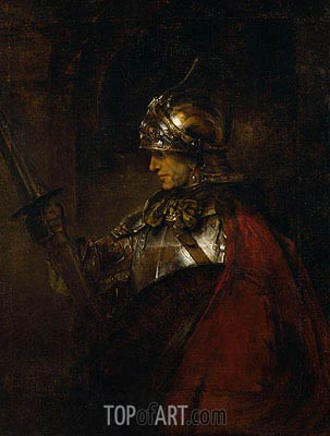 A Man in Armour, 1655 | Rembrandt | Gemälde Reproduktion
