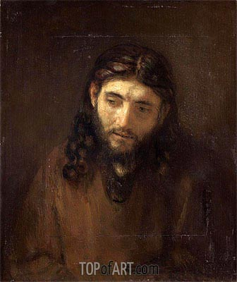 Head of Christ, c.1648/56 | Rembrandt | Gemälde Reproduktion