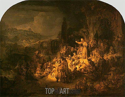 Preaching of St John the Baptist, c.1634 | Rembrandt | Painting Reproduction