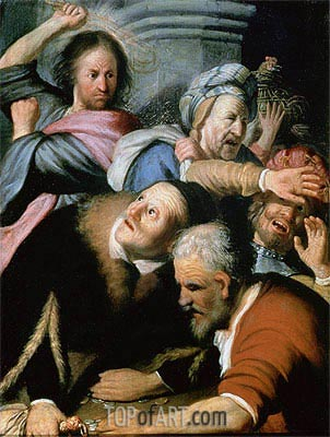Christ Driving the Moneychangers from the Temple, 1626 | Rembrandt | Gemälde Reproduktion