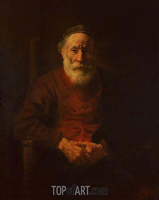 An Old Man in Red, c.1652/54 | Rembrandt | Gemälde Reproduktion