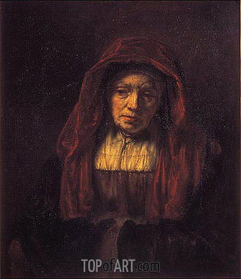 Portrait of an Old Woman, 1654 | Rembrandt | Painting Reproduction