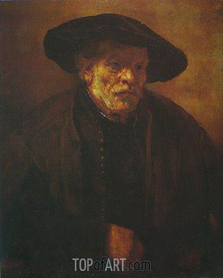 Portrait of Rembrandt's Brother Andrien van Rijn, 1654 | Rembrandt | Painting Reproduction