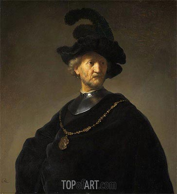 Old Man with a Gold Chain, 1631 | Rembrandt | Gemälde Reproduktion