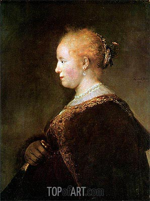 Portrait of a Young Woman, 1632 | Rembrandt | Gemälde Reproduktion