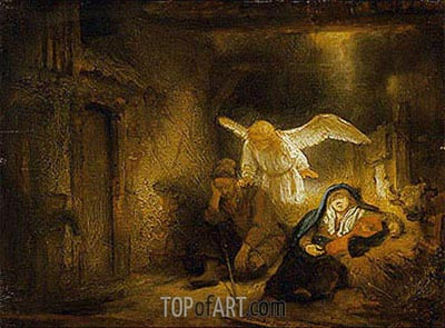 The Dream of St Joseph, 1645 | Rembrandt | Painting Reproduction