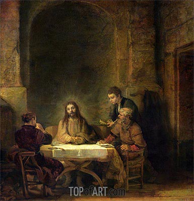 The Supper at Emmaus, 1648 | Rembrandt | Gemälde Reproduktion