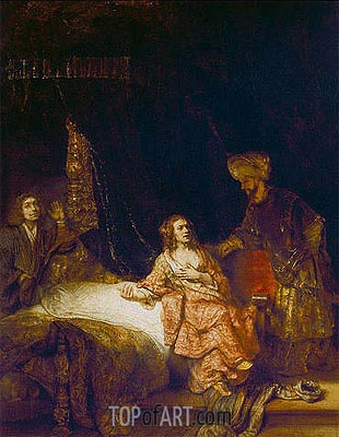 Joseph Accused by Potiphar's Wife, 1655 | Rembrandt | Painting Reproduction