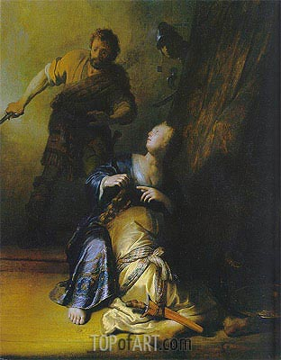 Samson and Delilah, c.1628 | Rembrandt | Painting Reproduction