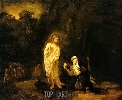 Woman, why are you Crying, 1651 | Rembrandt | Gemälde Reproduktion