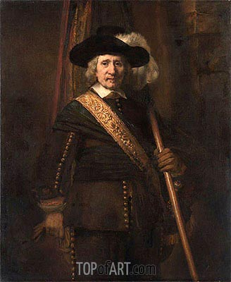 The Standard Bearer (Floris Soop), 1654 | Rembrandt | Painting Reproduction