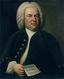 Portrait of Johann Sebastian Bach, c.1746/48 by Elias Gottlob Haussmann | Painting Reproduction