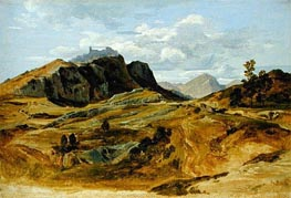 Landscape at Civitella, 1822 by Heinrich Reinhold | Painting Reproduction