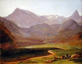 The Funtensee, 1841 by Heinrich Reinhold | Painting Reproduction