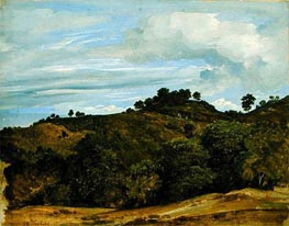 Landscape near Olevano, 1822 by Heinrich Reinhold | Painting Reproduction