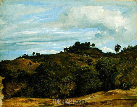 Landscape near Olevano, 1822 | Heinrich Reinhold | Painting Reproduction