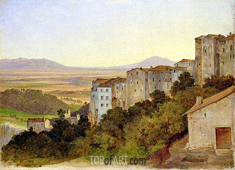 View of Olevano, c.1821/24 | Heinrich Reinhold | Painting Reproduction