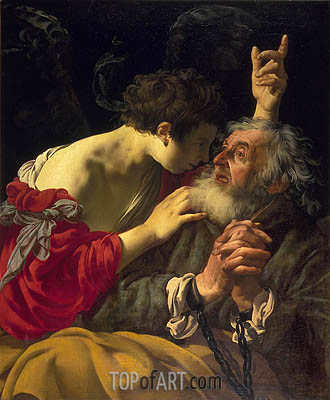 The Deliverance of Saint Peter, 1624 | Hendrick ter Brugghen | Painting Reproduction