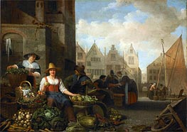 The Vegetable Market, 1662 von Hendrik Martensz Sorgh | Gemälde-Reproduktion