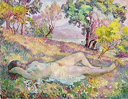 The Resting in Saint-Tropez, 1906 by Henri Lebasque | Painting Reproduction