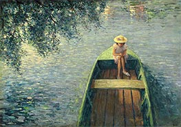 A Boat on the Marne, c.1905/06 by Henri Lebasque | Painting Reproduction