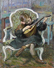 The Little Mandolinist, 1905 by Henri Lebasque | Painting Reproduction