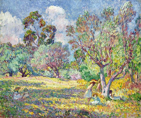 Children in a Meadow, c.1906/07 | Henri Lebasque | Painting Reproduction