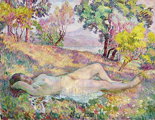 The Resting in Saint-Tropez, 1906 | Henri Lebasque | Painting Reproduction