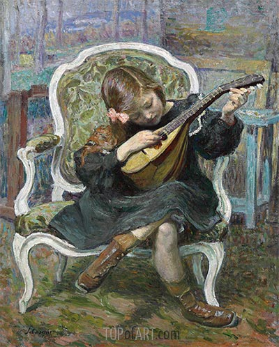 The Little Mandolinist, 1905 | Henri Lebasque | Painting Reproduction