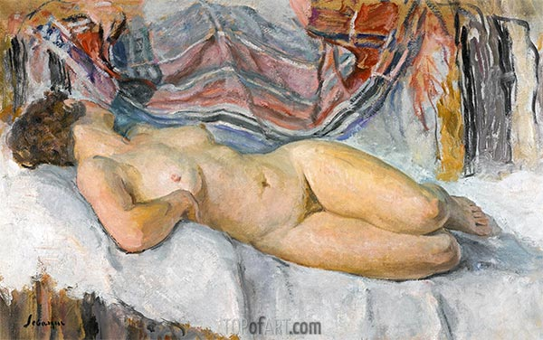 Nude Lying, undated | Henri Lebasque | Painting Reproduction