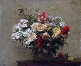 Summer Flowers, 1880 by Fantin-Latour | Painting Reproduction