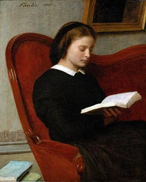 The Reader, 1861 by Fantin-Latour | Painting Reproduction