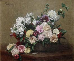 Roses, 1881 by Fantin-Latour | Painting Reproduction