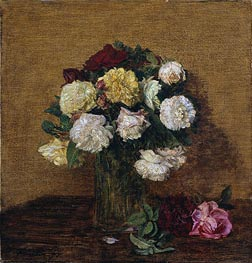 Roses in a Vase | Fantin-Latour | Painting Reproduction