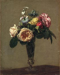 Flowers in a Vase | Fantin-Latour | Painting Reproduction
