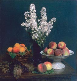 White Rockets and Fruit | Fantin-Latour | Painting Reproduction