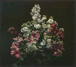 White and Purple Stock | Fantin-Latour | Painting Reproduction