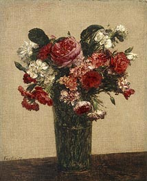 Still Life with Roses and Asters in a Glass | Fantin-Latour | Painting Reproduction