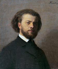 Self Portrait, 1867 by Fantin-Latour | Painting Reproduction