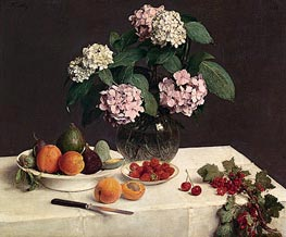 The Dressed Table, 1866 by Fantin-Latour | Painting Reproduction