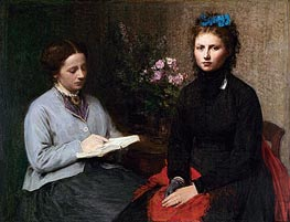 The Reading, 1870 by Fantin-Latour | Painting Reproduction
