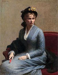 Charlotte Dubourg, 1882 by Fantin-Latour | Painting Reproduction