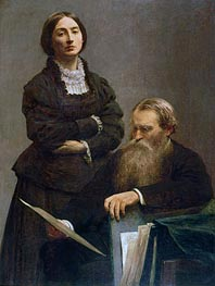 Mr and Mrs Edwin Edwards, 1875 by Fantin-Latour | Painting Reproduction