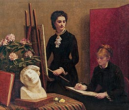The Drawing Lesson | Fantin-Latour | Painting Reproduction